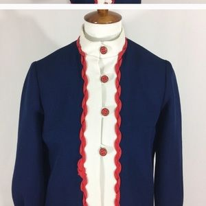 Vintage Revolutionary War Style Coat Dress